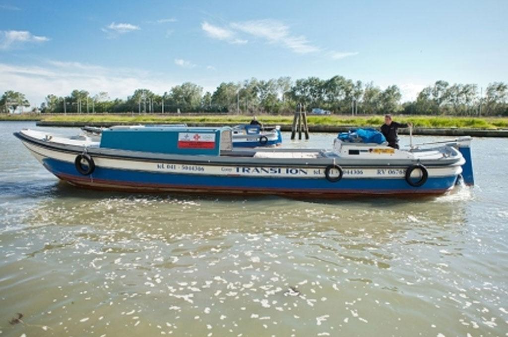 spostamento di merci e prodotti nella laguna di Venezia
